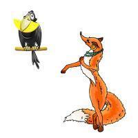 Текст ворона и лисица - крылов